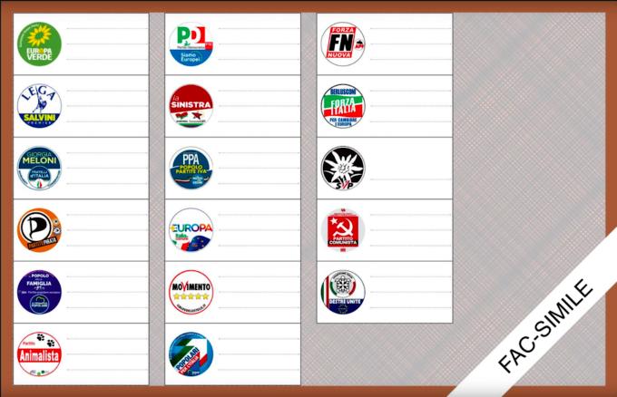 fac simile scheda elettorale europee italia nord est-2