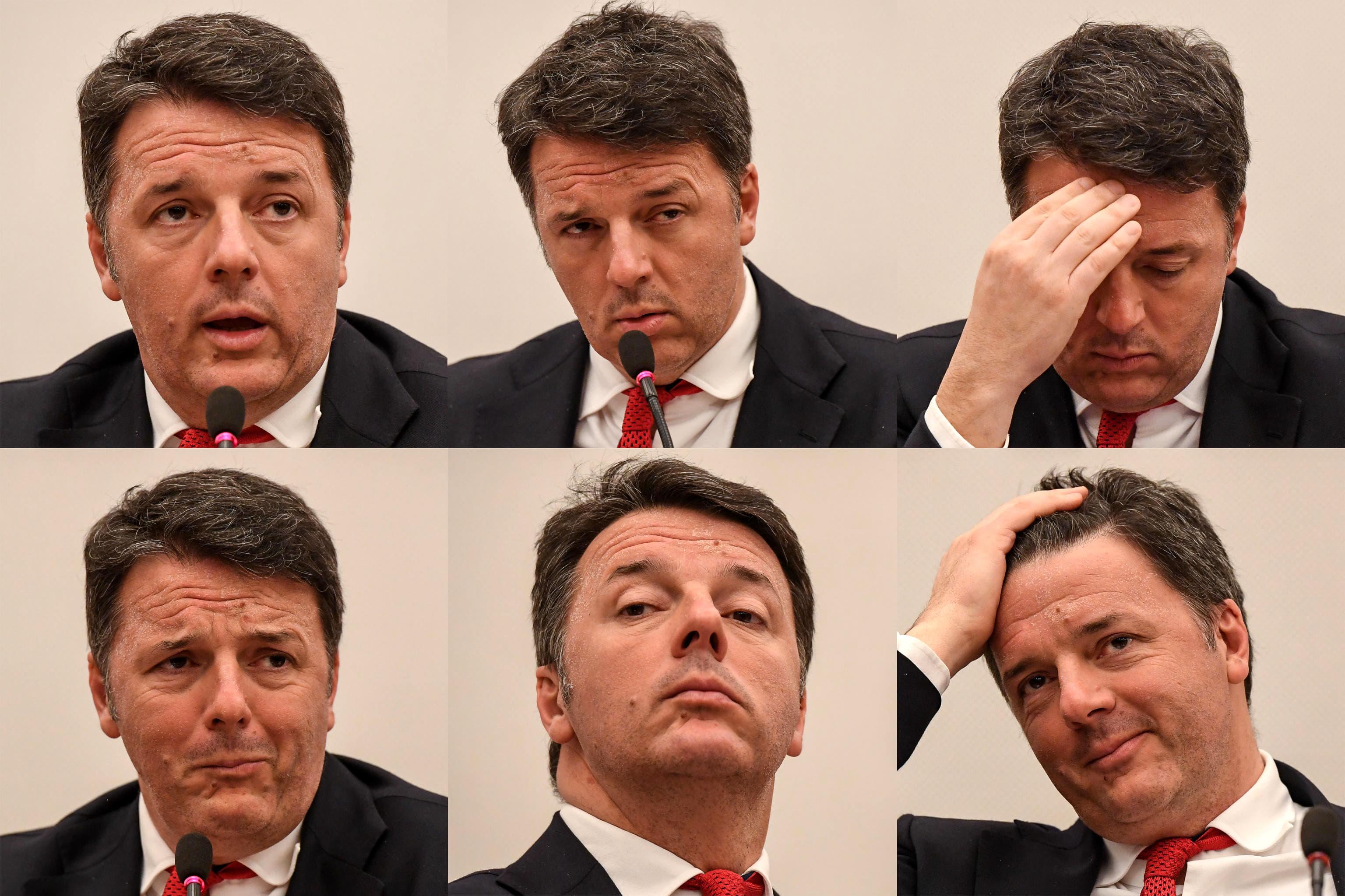 Matteo Renzi in una foto Ansa di Alessandro Di Meo 2-2-2