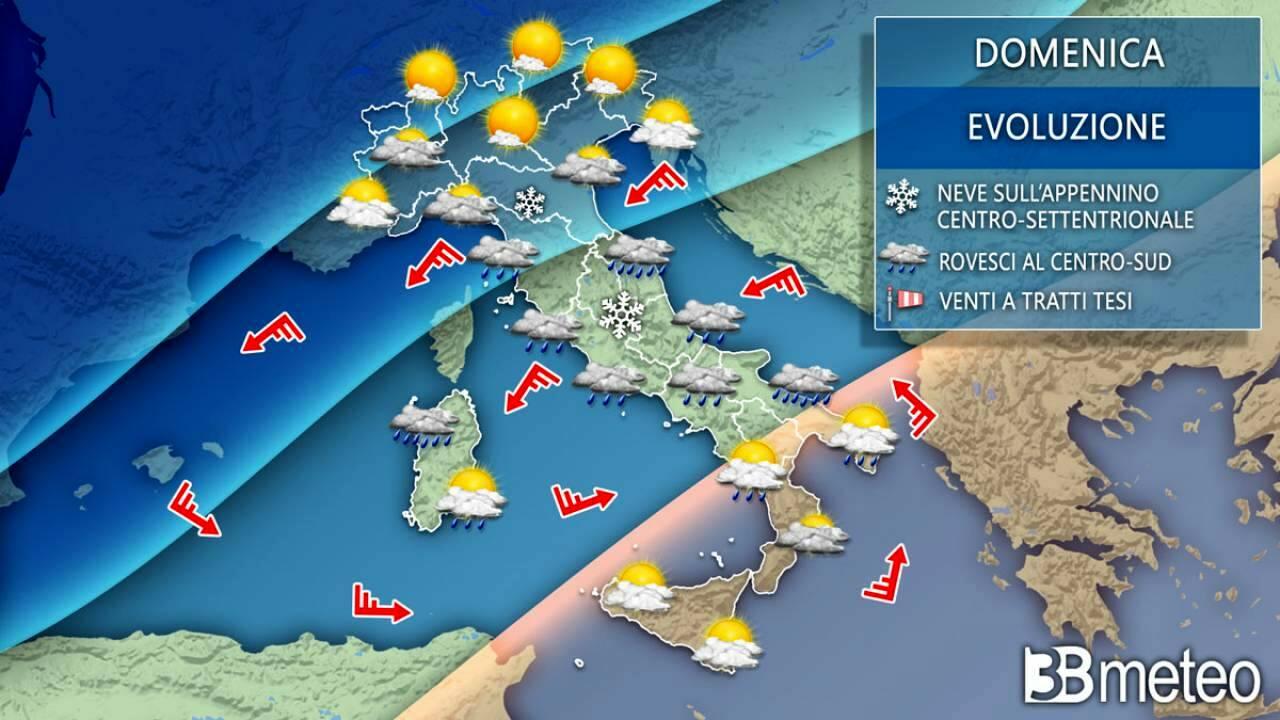 Meteo Italia Cartina.Meteo Neve A Quote Basse E Temperature Sotto Zero Le Previsioni Dal 10 Al 12 Gennaio 2021