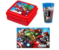 Set portamerenda degli Avengers