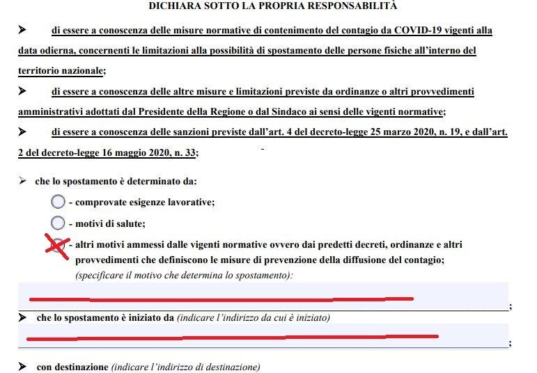 italia zona rossa autocertificazione come compilare-2