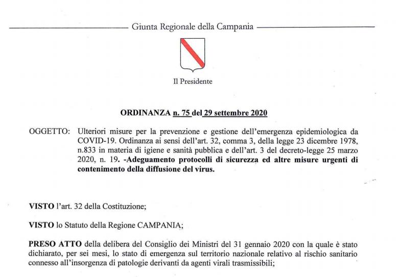 La Nuova Ordinanza Di De Luca In Campania Blocca Movida Feste E Matrimoni