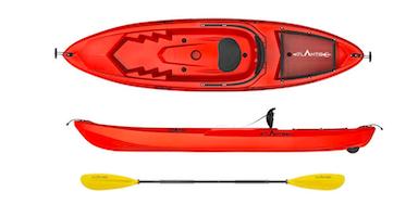 Canoa con ruotino