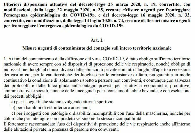 Nuovo Dpcm 25 Ottobre 2020 Stop Anticipato A Ristoranti Bar No Al Divieto Di Circolazione
