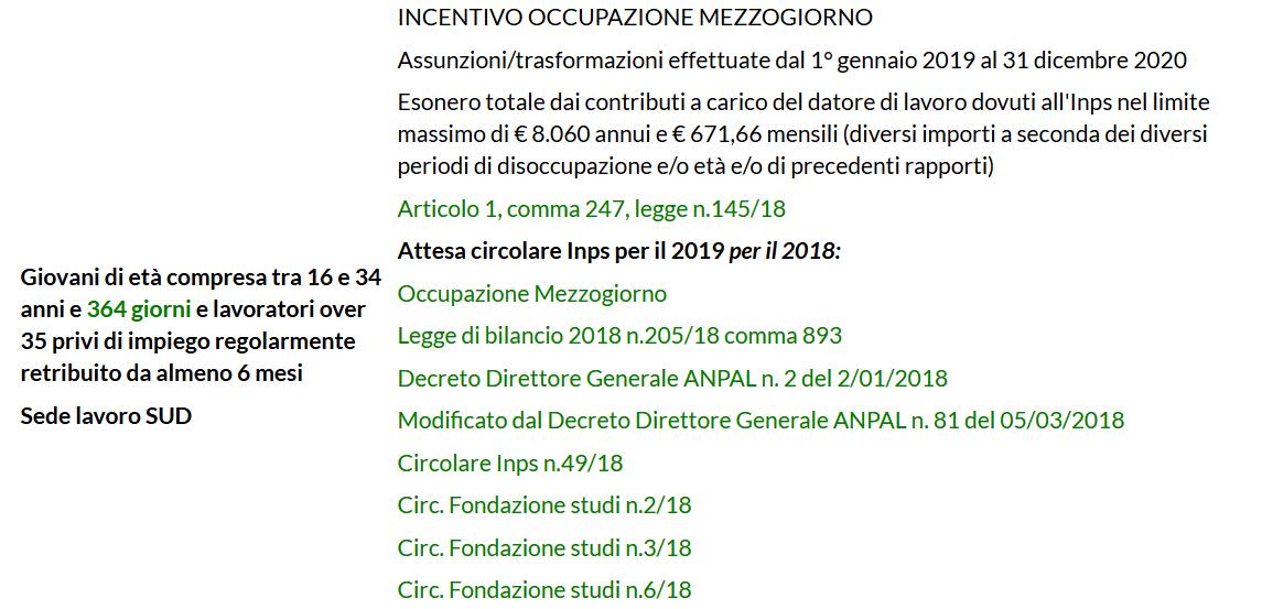agevolazioni lavoro 2019 2-2-3