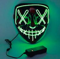maschera con luci a led