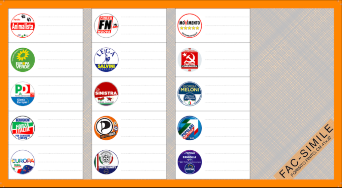 fac simile scheda elettorale europee italia sud-2