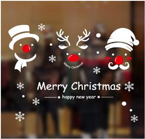 Natale Vetrofanie Rimovibile Adesivi-2