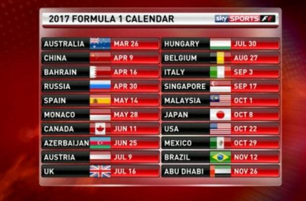 Calendario Mondiale F1 2020.Calendario F1 2020 Rai Differita Calendario 2020