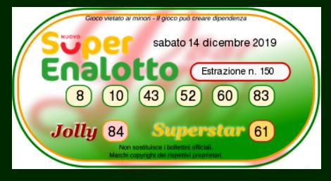 superenalotto 14 dicembre 2019-2