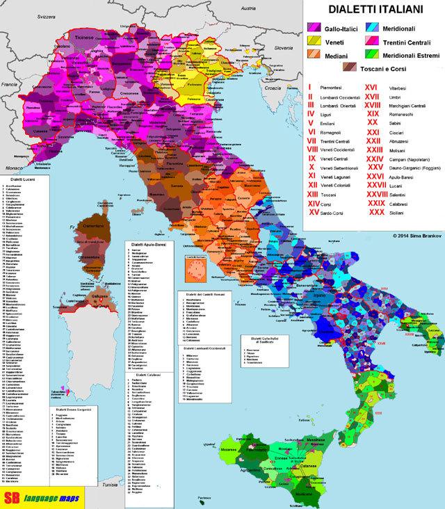 Cartina Italia Completa.Foto La Mappa Completa Di Tutti I Dialetti Parlati In Italia