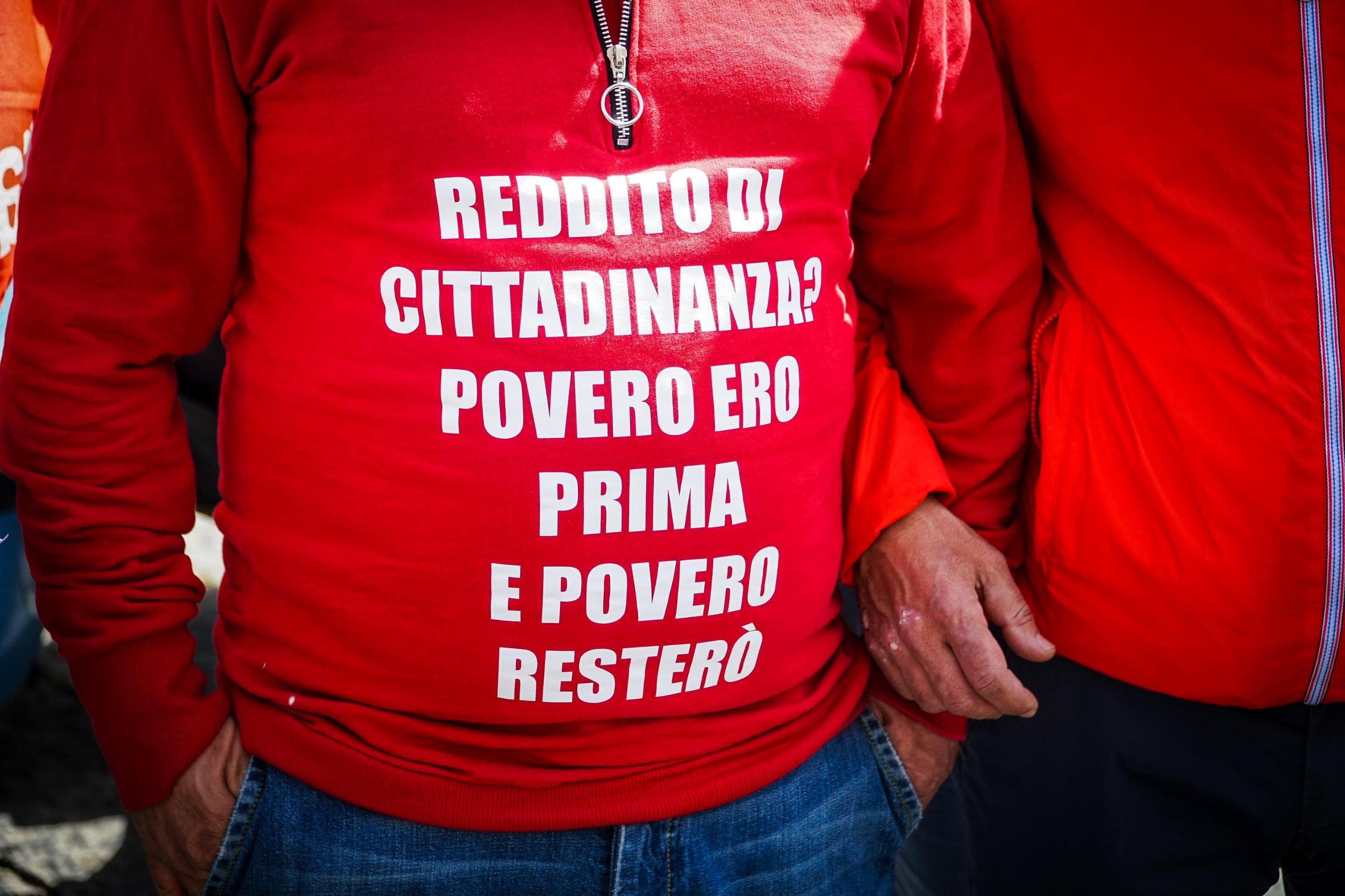 protesta reddito cittadinanza ansa-2