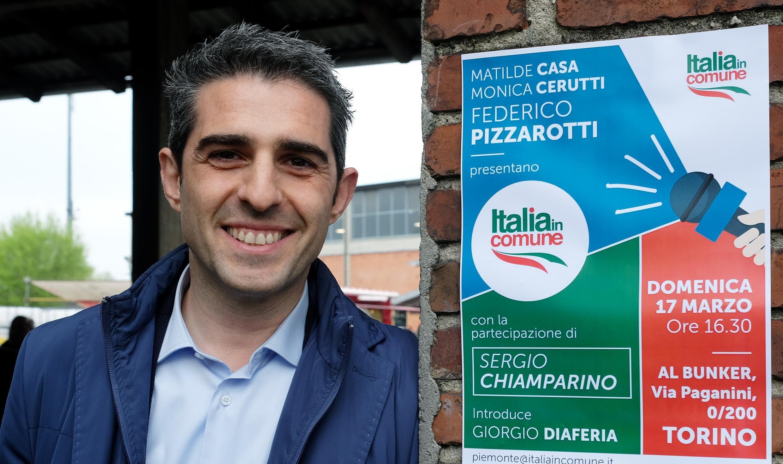 Federico Pizzarotti sindaco di Parma durante la presentazione del nuovo partito nazionale Italia in Comune foto ansa-2