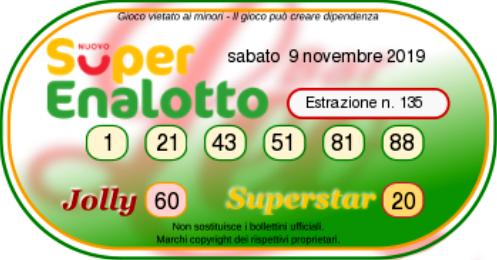 superenalotto oggi 9 novembre (2)-2-2