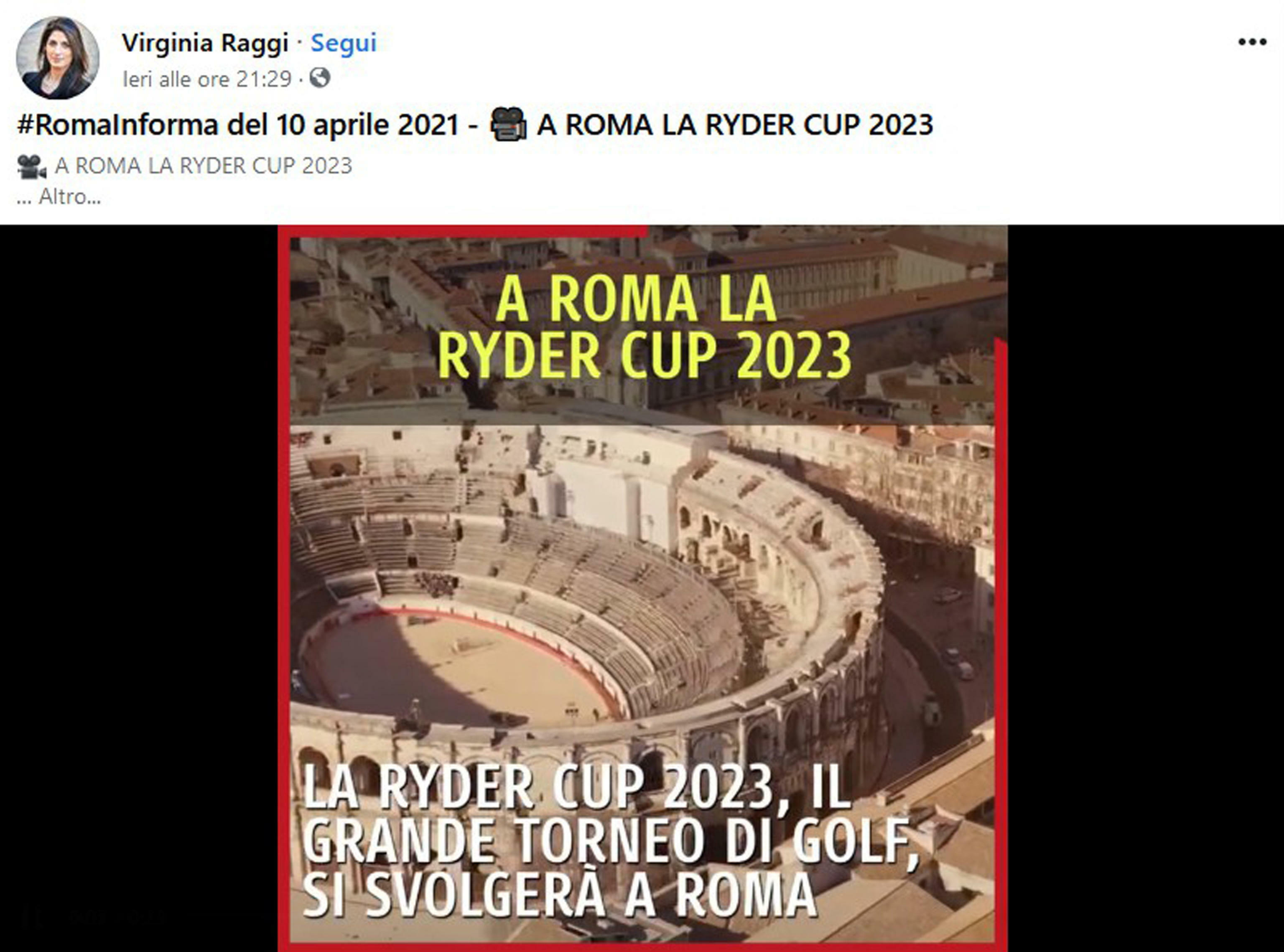 video raggi colosseo nimes fb-2