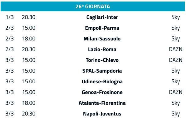 Serie A Le Partite Di Oggi Come Vederle In Diretta Su Sky E Dazn