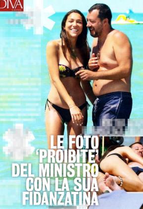 Matteo Salvini e Francesca Verdini al mare: baci e coccole ...