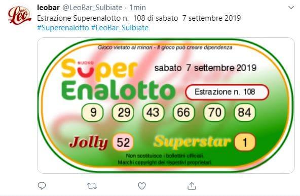 Estrazioni Lotto, SuperEnalotto e 10eLotto di oggi sabato ...