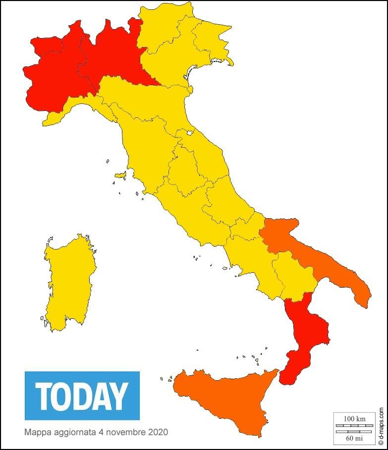la mappa delle regioni rosse gialle arancioni-2