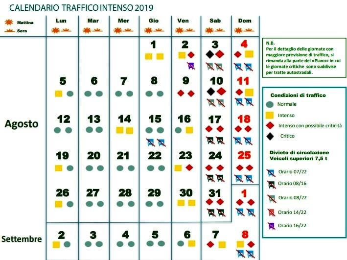 Calendario Traffico Autostrade.Traffico Autostrade 3 E 4 Agosto La Situazione