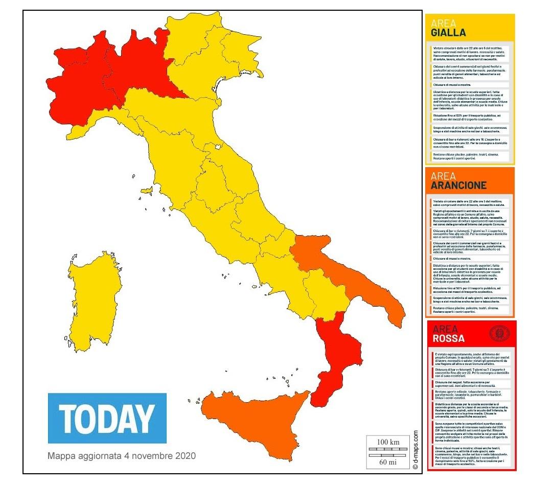 la mappa delle regioni rosse gialle arancioni-3