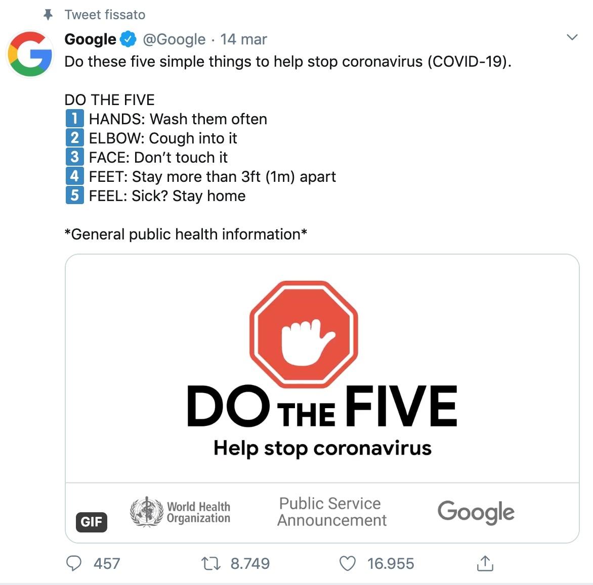 Tweet fissato Google-2