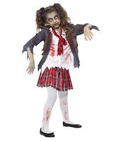 Costume scolara zombi