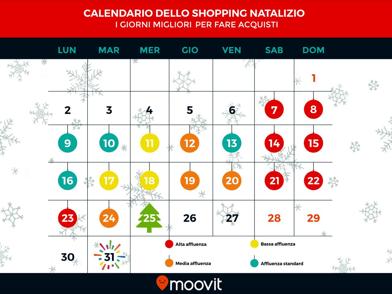 Calendario shopping natalizio elaborato da Moovit-2