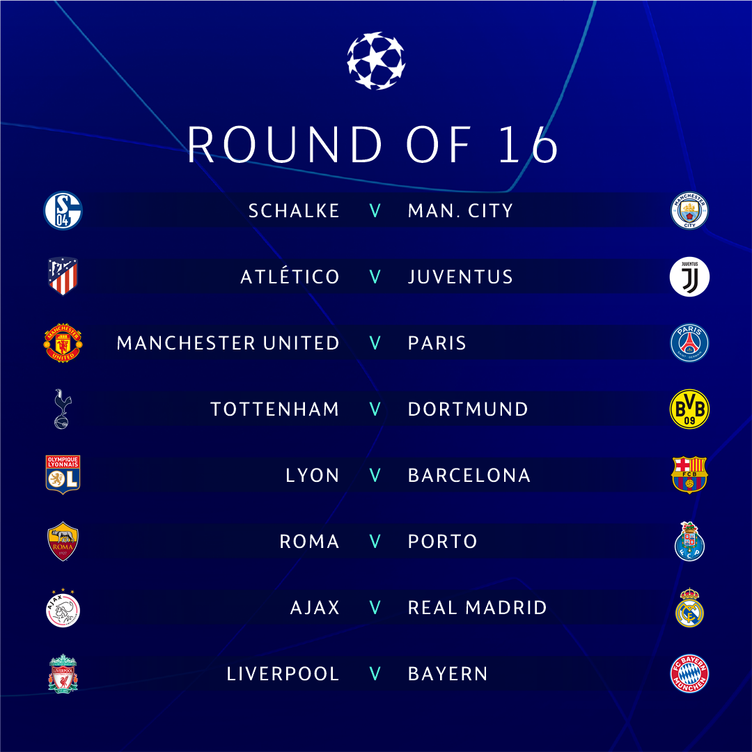 Calendario Champions Ottavi.Champions League 2019 Ottavi Quarti Semifinali E Finale