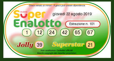 superenalotto oggi 22 agosto-2