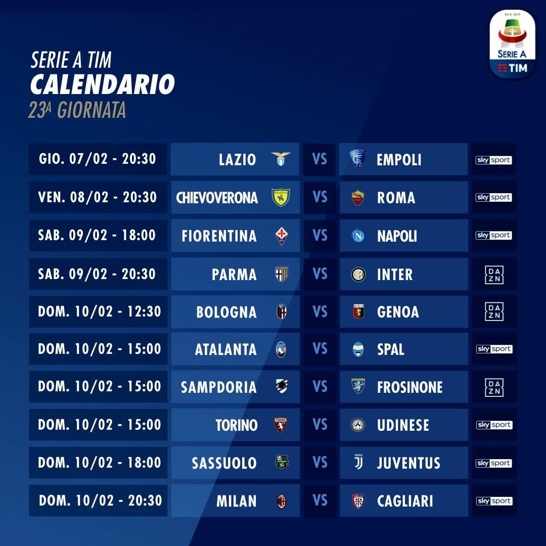 Serie A Oggi Sky E Dazn Orari Partite Diretta Tv E Streaming Dove Vedere Live