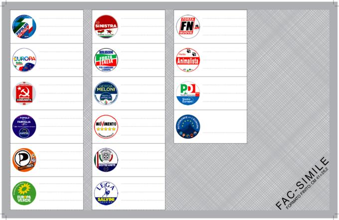 fac simile scheda elettorale europee italia nord ovest-2