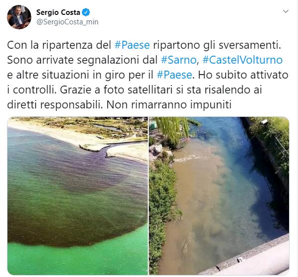 ministro costa twitter sversamenti-2