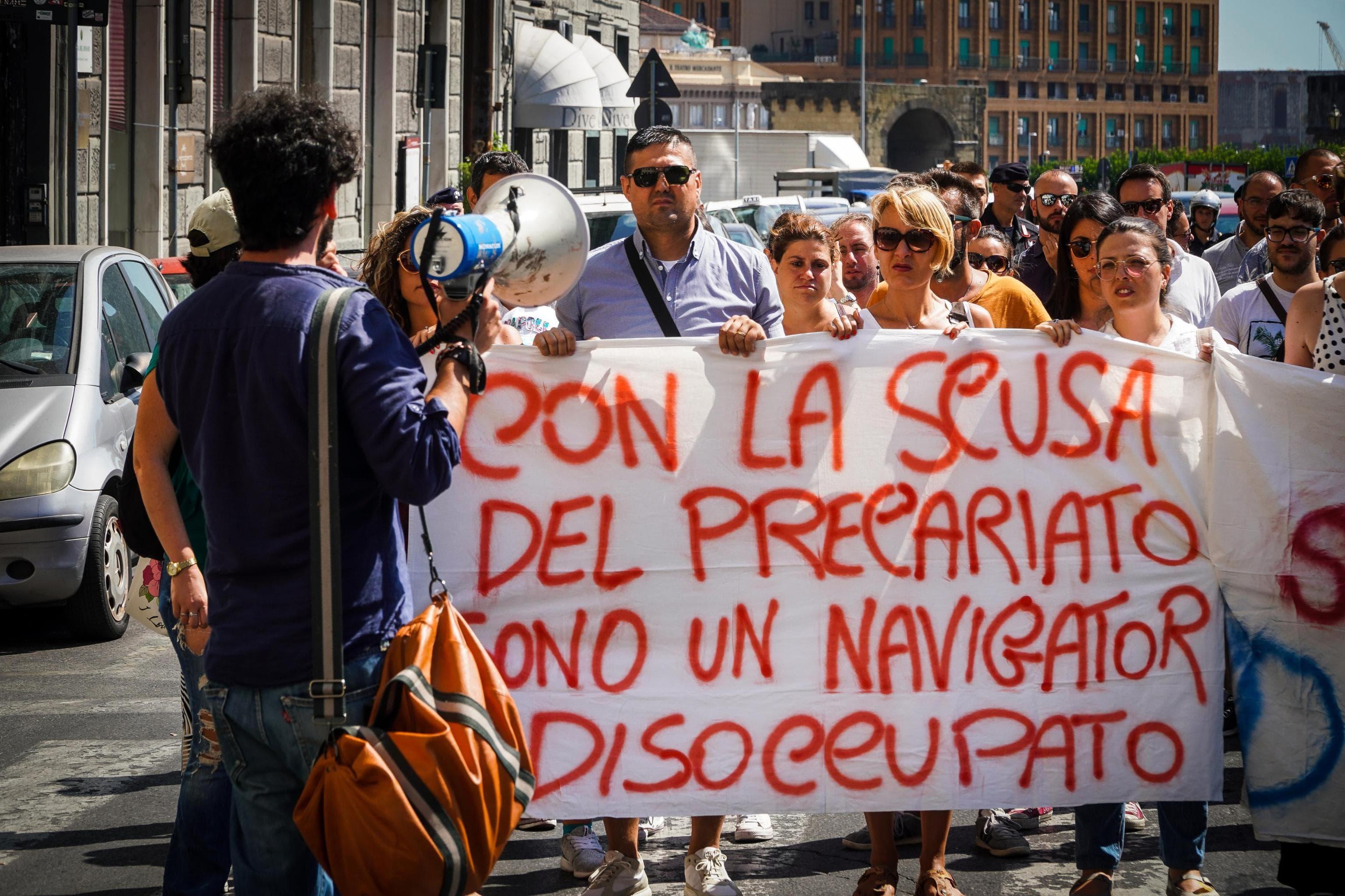 navigator campania protesta ansa-2
