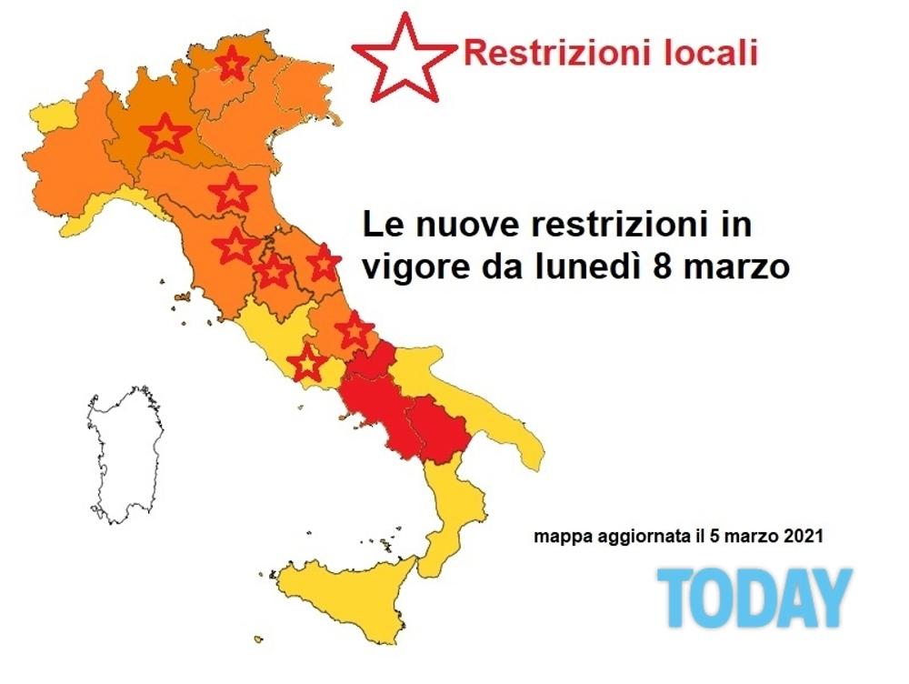 Cartina Italia E Province.Zona Rossa E Zona Arancione Regioni E Province Che Cambiano Colore