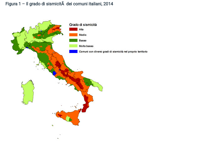 Cartina Dell Italia Zone Sismiche.Da Nord A Sud I Comuni Italiani A Rischio Sismico La Mappa I Dati I Numeri