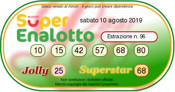 superenalotto oggi 10 agosto 2019-2