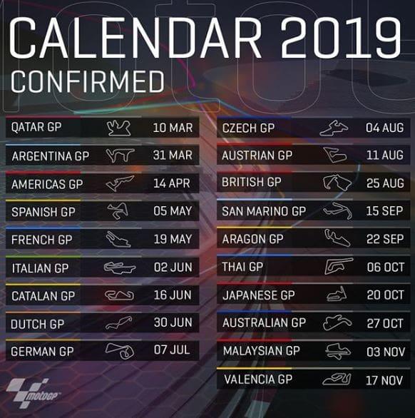 Calendario Calcio Spagnolo.Calendario Motogp 2019 Data E Orario Di Tutte Le Gare