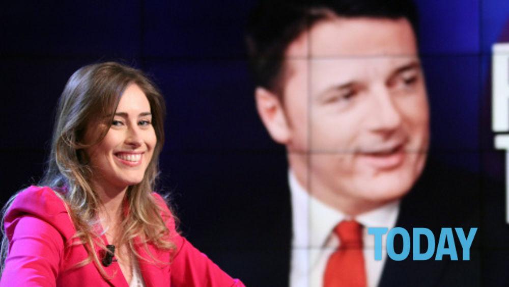 Il vincitore Matteo Renzi e il nuovo governo con Maria Elena Boschi