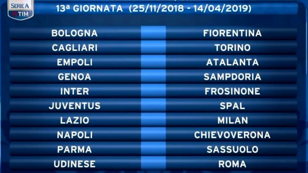 Calendario Juve E Napoli.Calendario Serie A 2018 2019 Date Turni Infrasettimanali