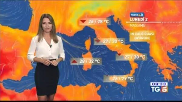 Previsioni meteo per la prima settimana di settembre