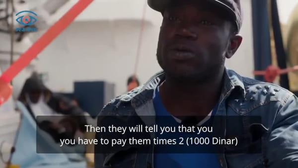 """""""In Libia è l'inferno"""": il racconto dei migranti sbarcati dalla Sea Eye"""