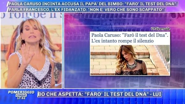 """Barbara d'Urso: """"Paola Caruso farà il test del dna per dimostrare la paternità del figlio"""""""