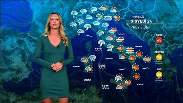Le previsioni meteo per giovedì 24 ottobre 2019