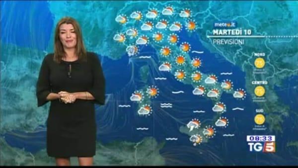 Le previsioni meteo per martedì 10 settembre 2019