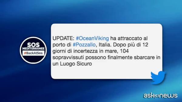 Sbarcati a Pozzallo i 104 migranti salvati dalla Ocean Viking