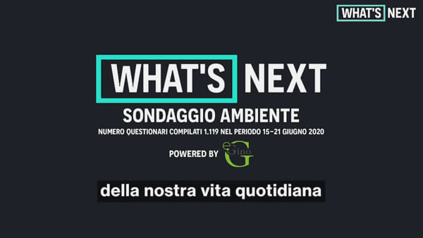 What's Next, il nostro futuro post-covid EP03 (Survey Ambiente)