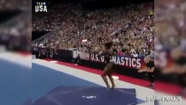 Simone Biles nella storia, un doppio salto mortale mai realizzato