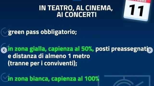 decreto riaperture concerti