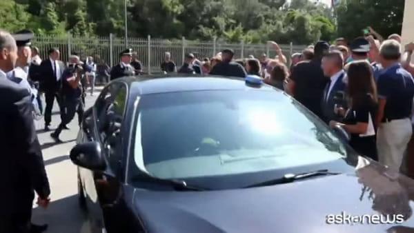 Matteo Salvini contestato a Castel Volturno